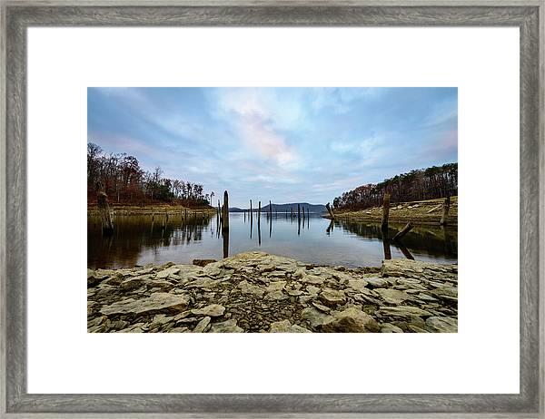 The Bottom Of The Lake Framed Print