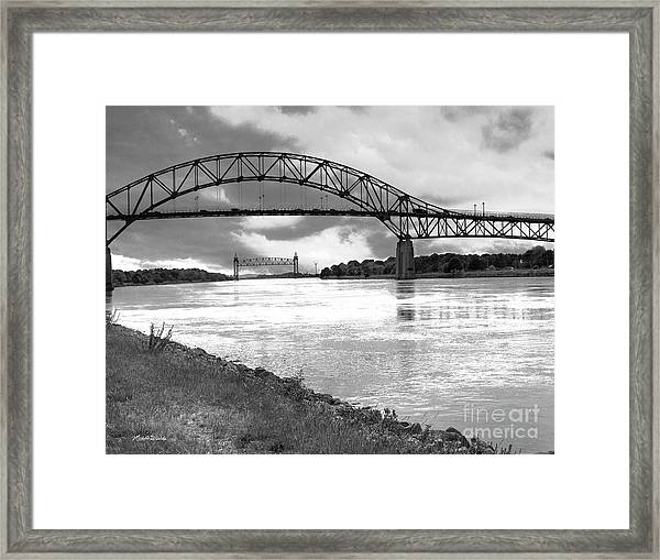 The Bourne And Railroad Bridges Framed Print