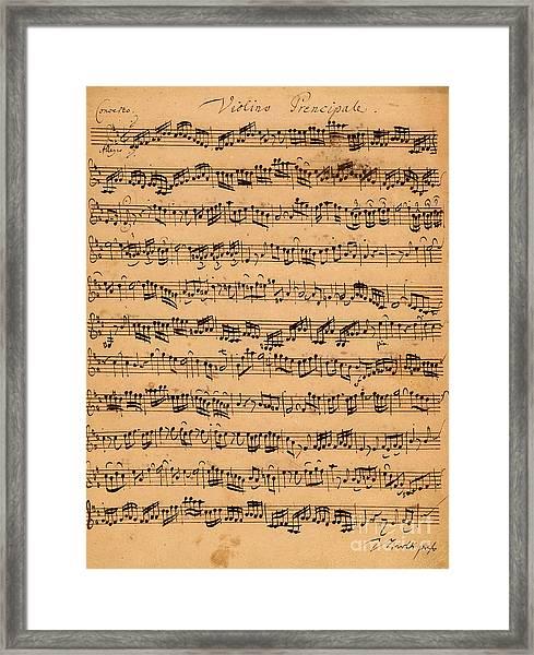 The Brandenburger Concertos Framed Print