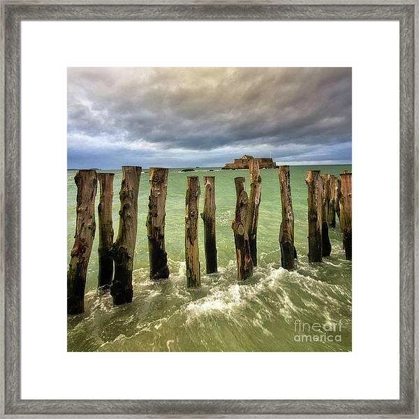 The Breakwater Framed Print