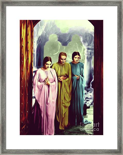 The Brides Of Dracula Framed Print