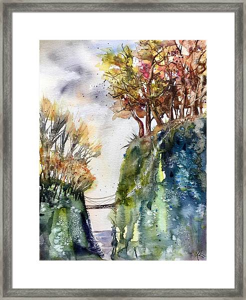 The Bridge Between Two Worlds Framed Print
