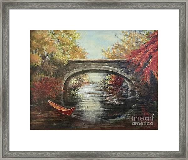 The Bridge Fall Framed Print