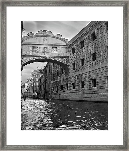The Bridge Of Sighs, Venice, Italy Framed Print