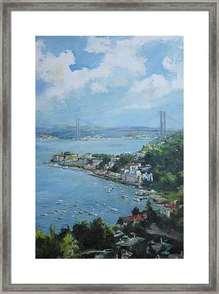 The Bridge Over Bosphorus Framed Print