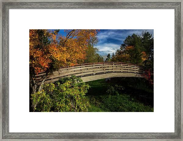 The Bridge To The Garden Framed Print