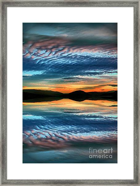 The Brush Strokes Of Evening Framed Print