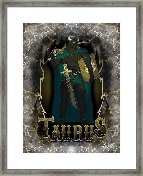 The Bull Taurus Spirit Framed Print