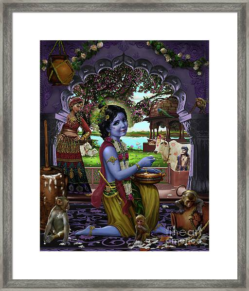 The Butter Thief Framed Print