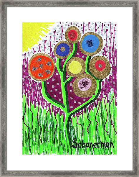 The Button Ball Tree Framed Print