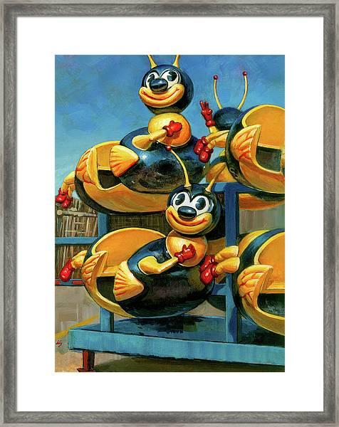 The Buzz Framed Print