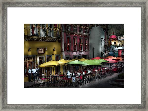 The Cafe At Night Framed Print