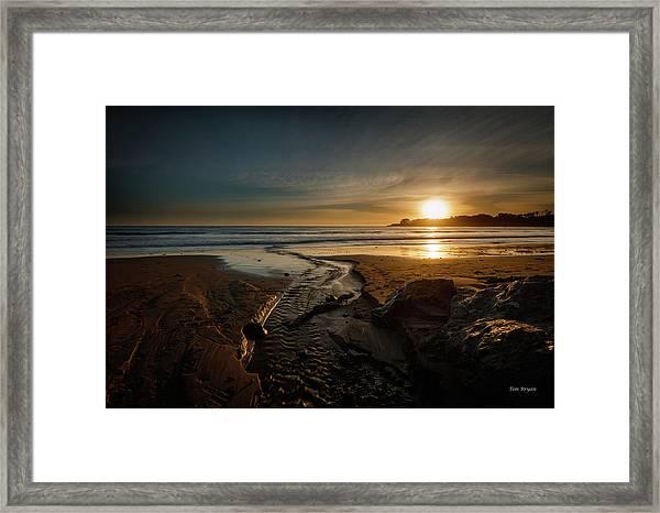 The Calming Bright Light Framed Print