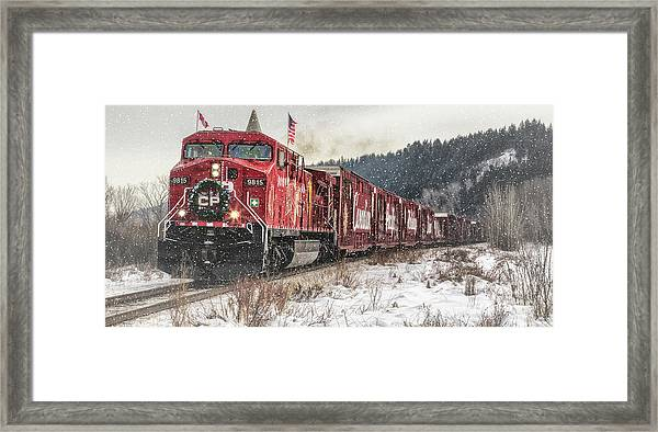 The Canadian Pacific Holiday Train Framed Print