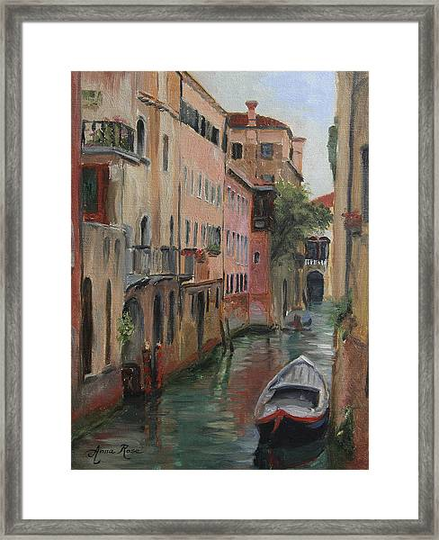The Canal Less Travelled Framed Print by Anna Rose Bain