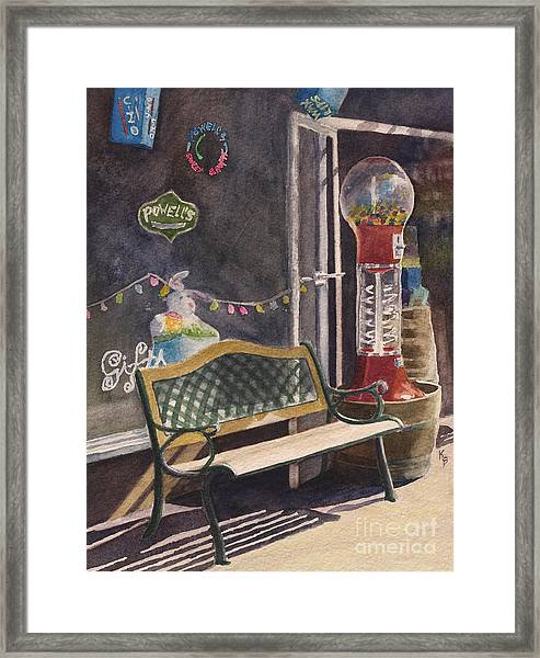 The Candy Shop Framed Print