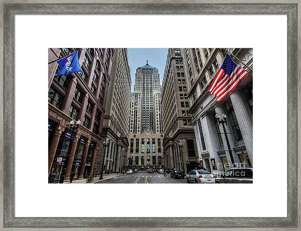 The Canyon In The Financial District Framed Print