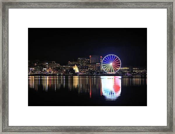 The Capital Wheel Over The Potomac Framed Print