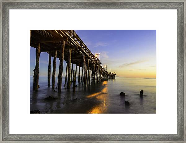 The Capitola Pier Framed Print