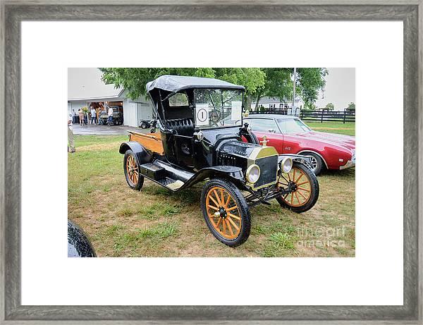 The Car With Spoke Wheels Framed Print