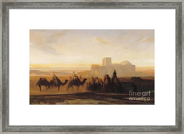 The Caravan Framed Print