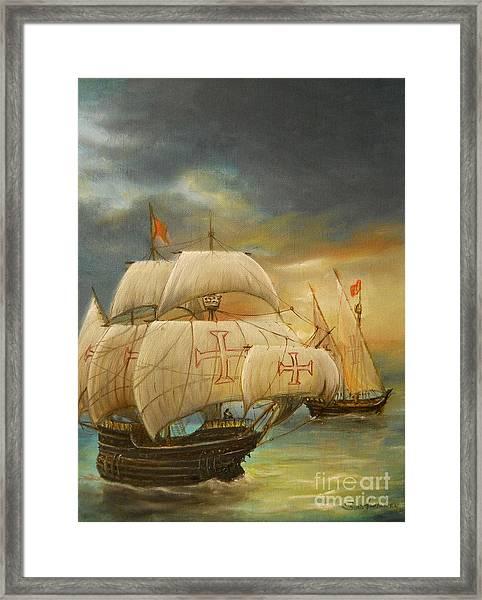 The Caravel Framed Print