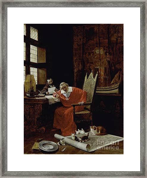 The Cardinal's Leisure  Framed Print