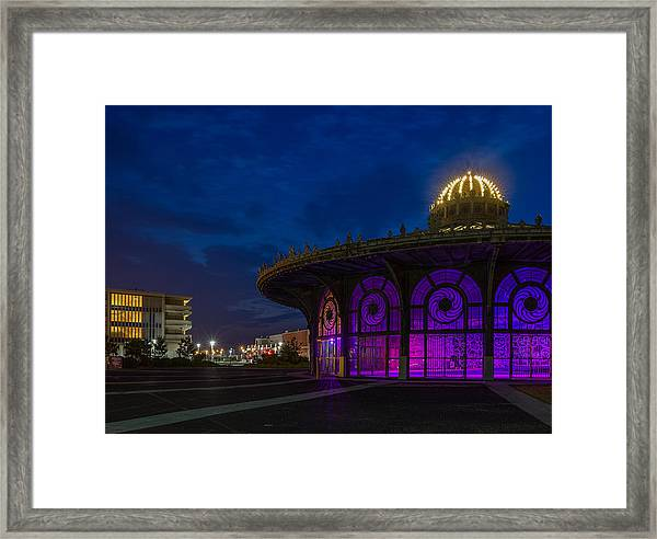The Carousel Roundhouse At Asbury Park Framed Print