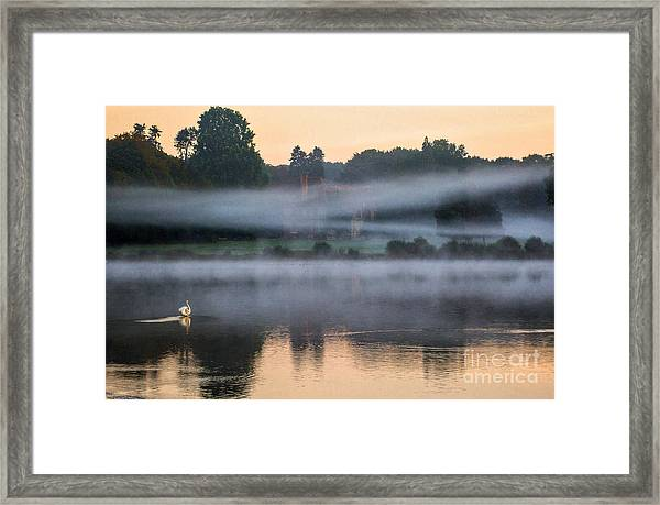 The Castle In The Myst Framed Print