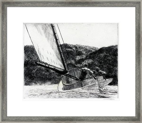 The Cat Boat Framed Print