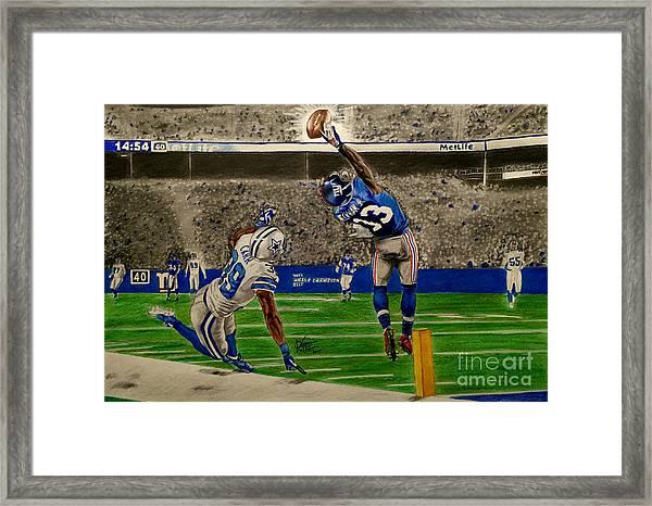 The Catch - Odell Beckham Jr. Framed Print