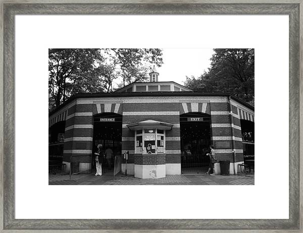 The Central Park Carousel Framed Print