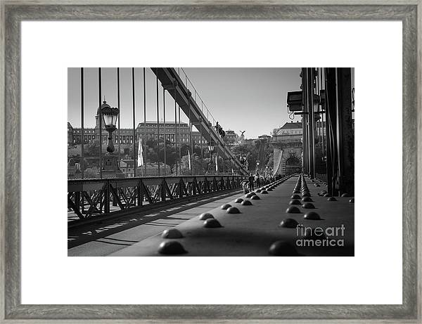 The Chain Bridge, Danube Budapest Framed Print