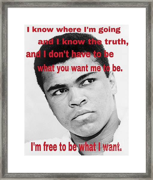 The Champ Muhammad Ali  Framed Print