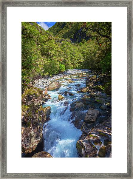 The Chasm Southland New Zealand Framed Print
