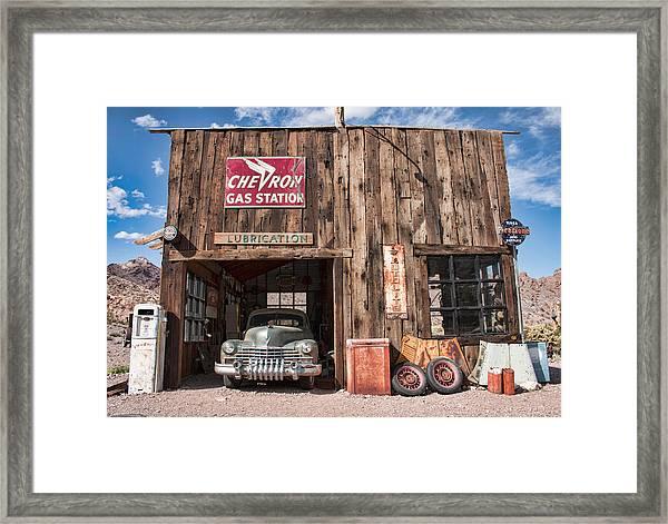 The Chevron Station  Framed Print
