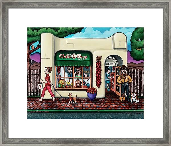 The Chile Shop Santa Fe Framed Print