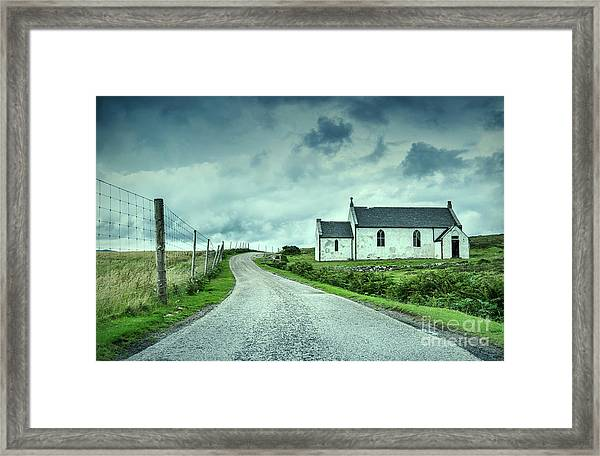 The Church In The Highlands Framed Print