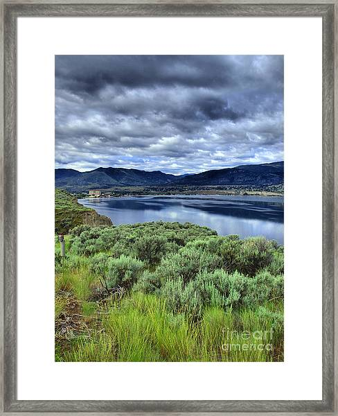 The City And The Clouds Framed Print
