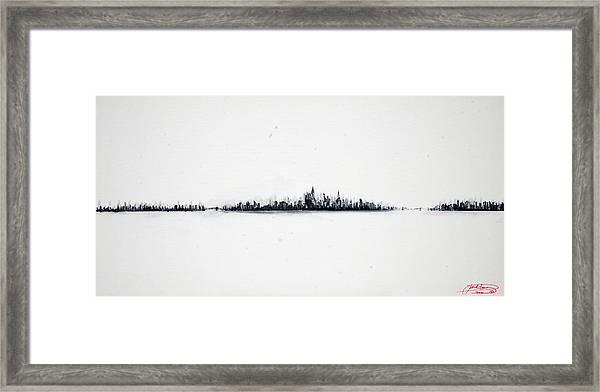 The City New York Framed Print