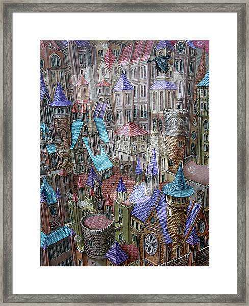 The City Of Crow Framed Print