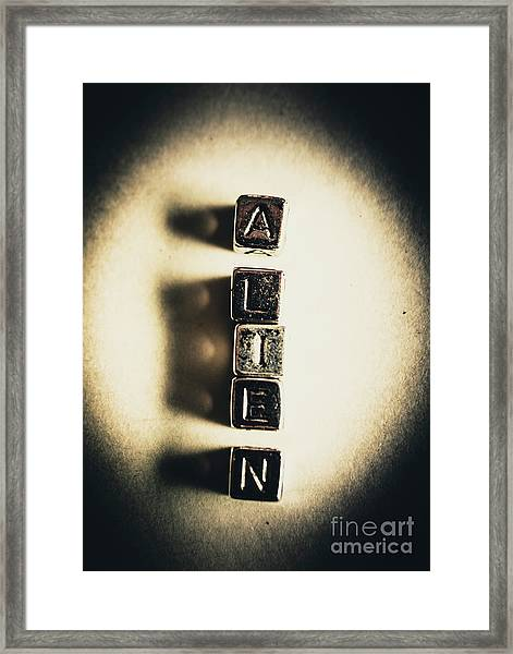 The Classified Alien Lie Framed Print