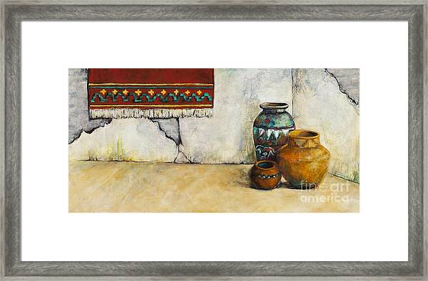 The Clay Pots Framed Print