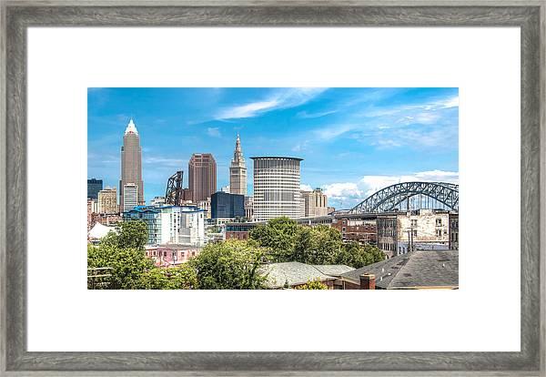 The Cleveland Skyline Framed Print