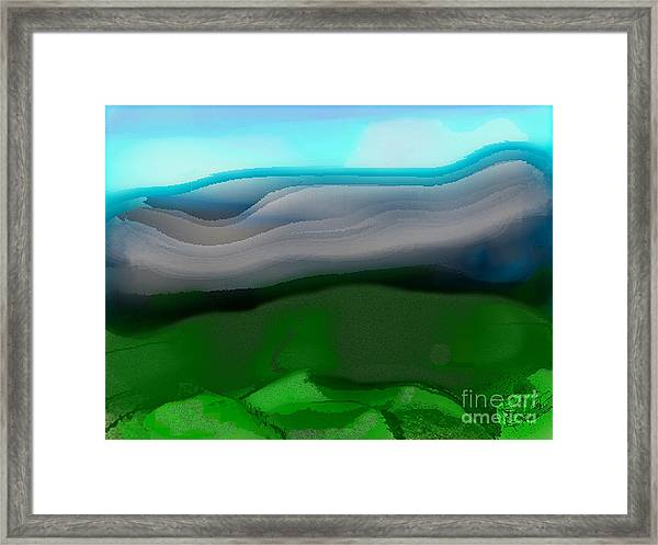 The Hilltop View Framed Print