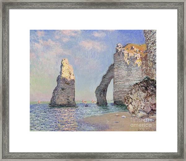 The Cliffs At Etretat Framed Print