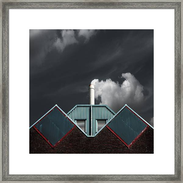 The Cloud Factory Framed Print