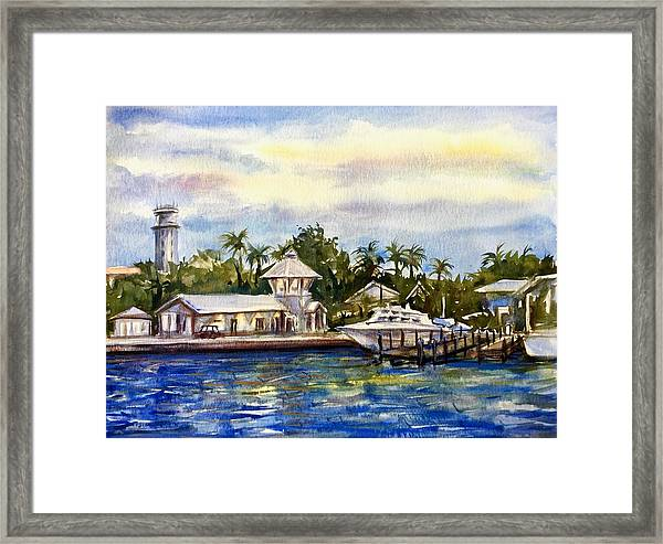 Framed Print featuring the painting The Coast Of Nassau by Katerina Kovatcheva