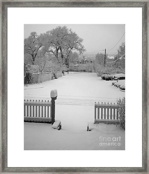 The Cold Embrace Framed Print