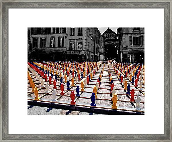 The Colored City Army Framed Print